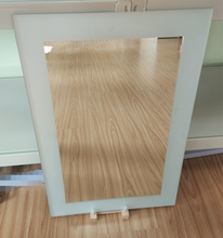 Personalized bathroom non-frame mirror with straight edge