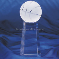 Home decor delicate crystal golf ball glass ball MH-Q0026