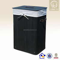 Square Foldable Bamboo Rattan Laundry Basket