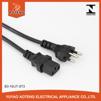 UC 3 pin brazil power extension cord