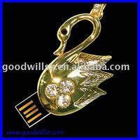 Animal crystal swan jewelry usb flash drive 4gb 8gb 16gb