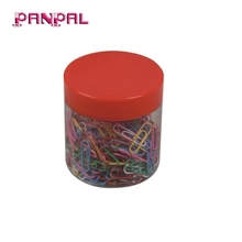 BSCI approved hot sale 200pc colorful metal paper clip