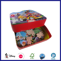 cardboard paper promotion cartoon jigsaw puzzle games for kids