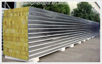 Insulated Metal rock wool wall sandwich panel price