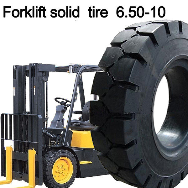 double coin high quality forklift solid tyre 6.50-10 solid tire