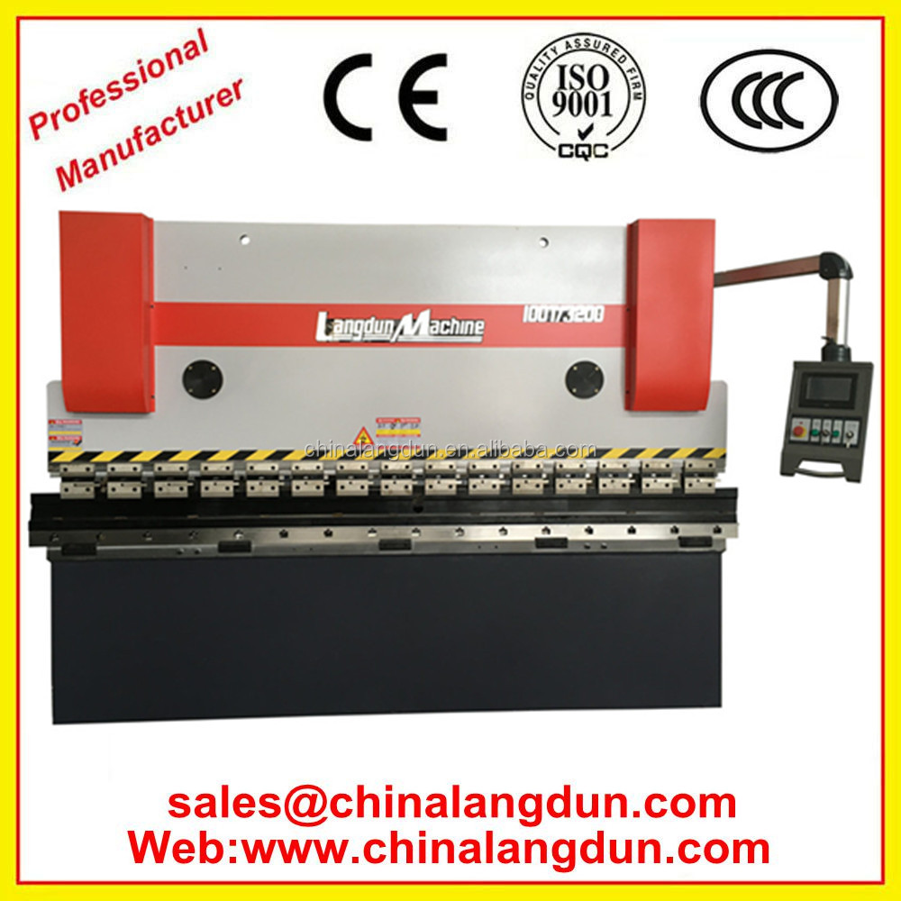 Electric press brake wrought iron machine press tooling
