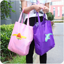 For logo printed promotional recycle polyester foldable bag custom shopping bag