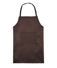 Hot sale custom logo snap front cobbler polyester BBQ apron from china