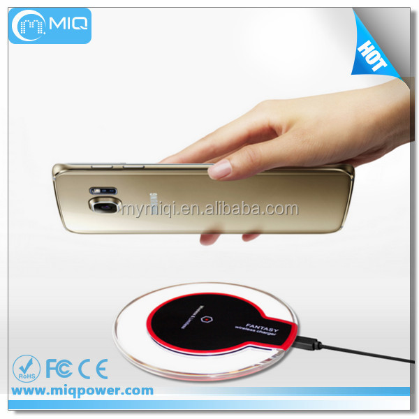 Qi Standard micro USB Wireless Charger for Android Samsung Galaxy S2 S3 S4 S5 S6 S7 Edge Note 2 3 4 5 Nexus 6 for iPhone