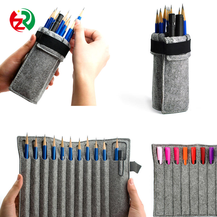 Alibaba School Supplies High Quality Make to order Felt Pencil Pouch