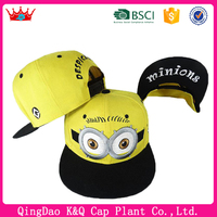 Heigh quality emroidery snapback minion snapback hat