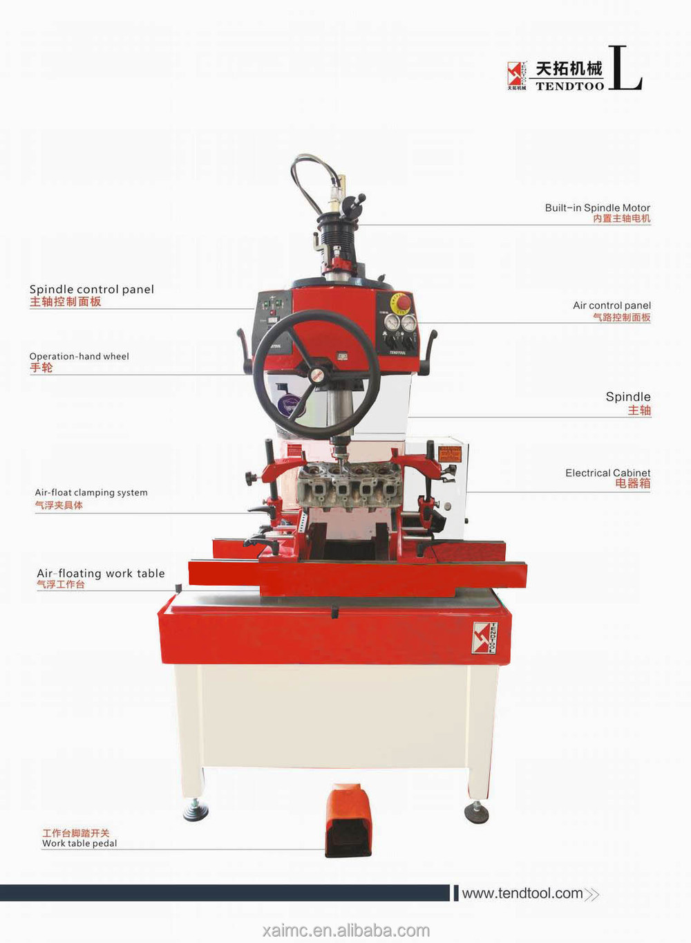 engine rebuild valve seat boring machine serdi