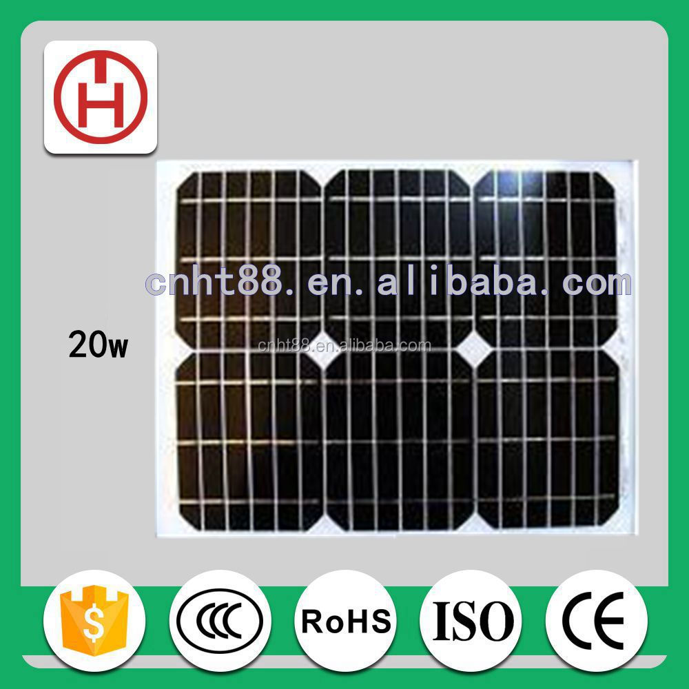 Normal Specification and Commercial Application mono pv solar panel 20 watt
