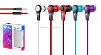 China wholeasle 3.5mm cheap earphones with microphone for laptop/iphone/sumsung/PC