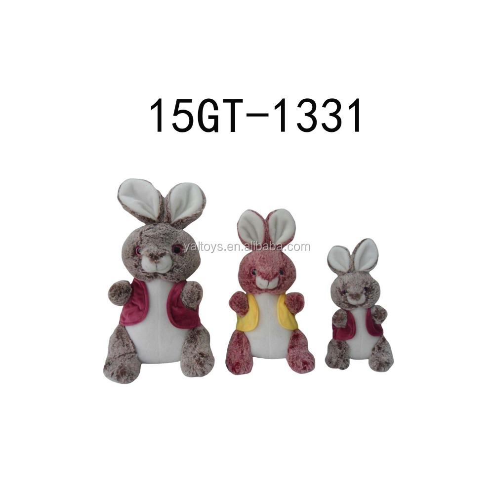 Plush Sitting Rabbit Toy with vest!