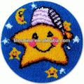 Fashionable latch hook rug kit with a cute star design