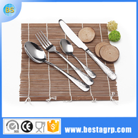 English silver stainless steel cutlery with heat resistant