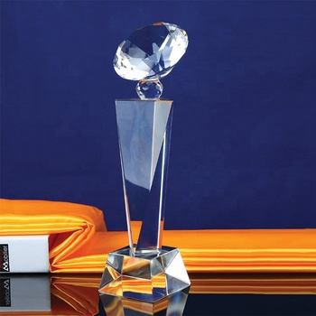 Pujiang Groothandel 3D Graveren UV Colour Printing Logo Blank Crystal Diamond Awards