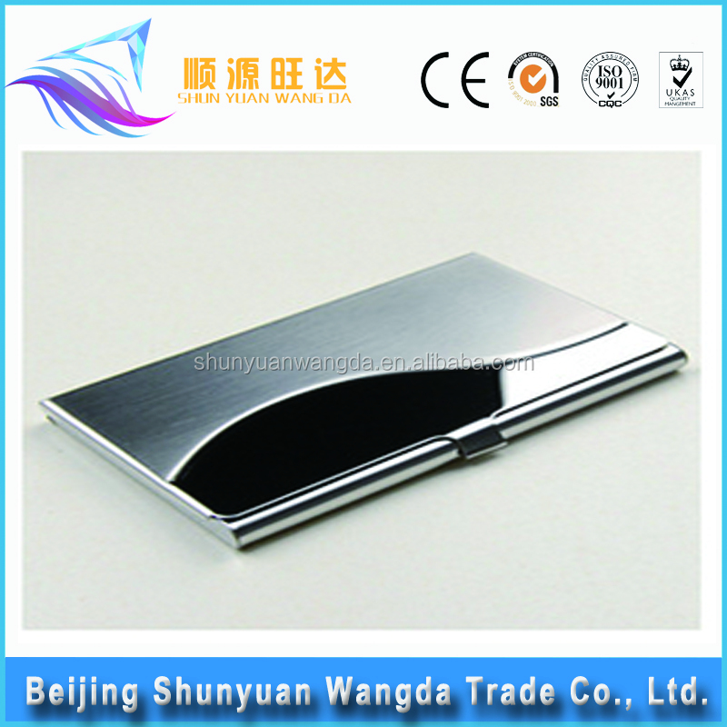 Promotional Business Gifts metal aluminum name card holder cheap business card holder