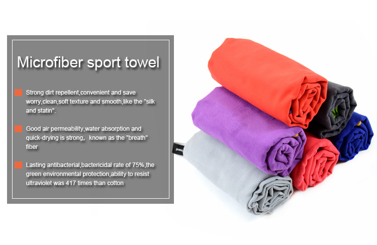 China High Quality Micrfiber Best Athletic Fitness Towels