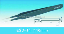 110mm mini vetus eyelash extension tweezers with sharp point