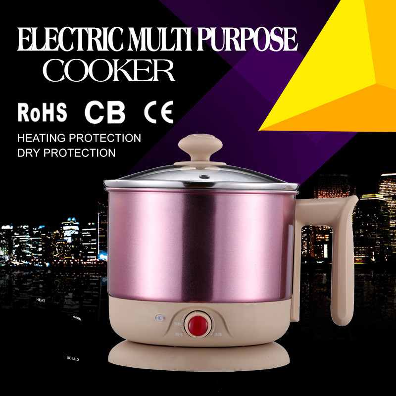 Stainless steel pot colored spray apperance hotpot cooker 1000W 1.2L/1.8L mini capacity