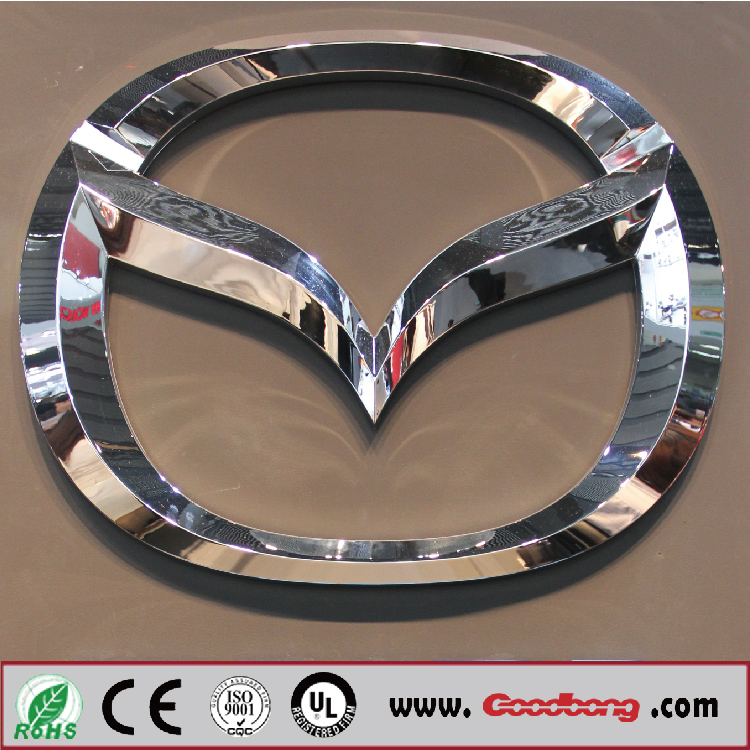Customized high quality 3d effect led lighted japanese car emblem