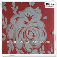 Floral printed polyester mesh fabric for wedding dress