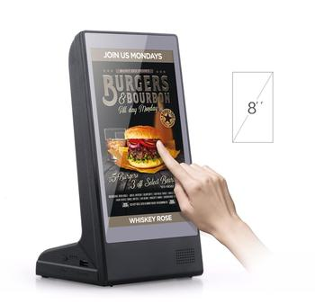FYD-898 New Restaurant Desktop Table Stand WiFi Small Screen Android Digital Menu Video Advertising Panel Display AD Player