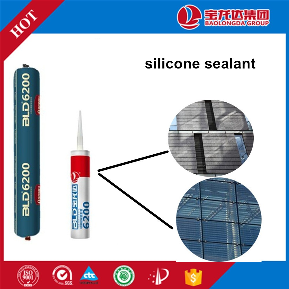 High tensile strength and elasticity Neutral transparent corrosion proof structural silicone sealant