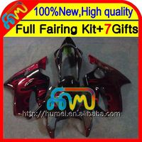 7gifts For HONDA CBR600F4 99-00 Red flames CBR 600F4 99 00 21CL57 Red black CBR600 F4 Fairings CBR 600 F4 1999 2000 Fairing