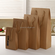 Portable window square bottom paper bag window Kraft Paper bag For Gifts And Food