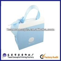 fancy gift paper bag with ribbon handle