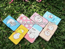 New Cute Cartoon PU Flip leather case cover with stand for Samsung Galaxy S3 i9300