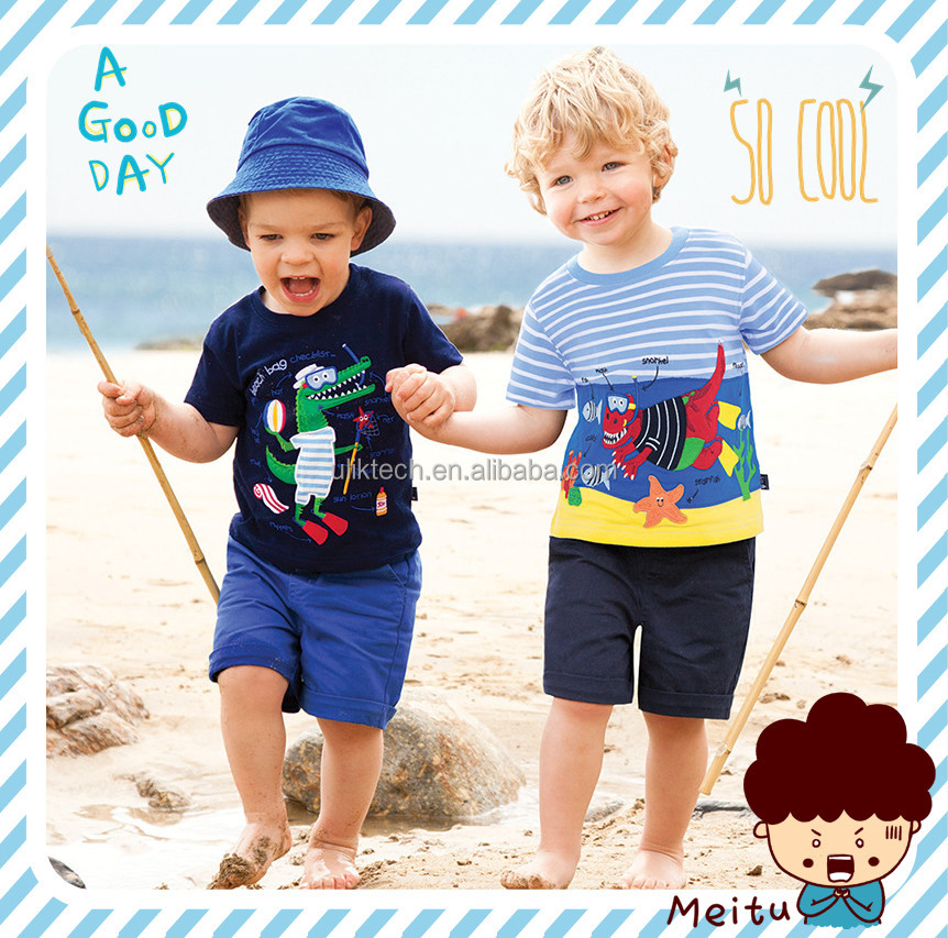 2017 Summer Children's Clothing Sets baby boy sports suit sets Kids clothing suit set cotton cartoon T-shirt+casual shorts