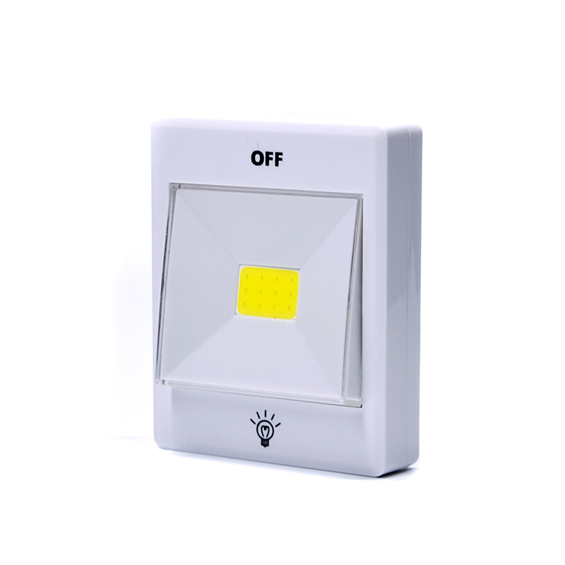 3w cob switch light/LED Cabinet Lights t with 3M adhesive tape/cob led light with tilt switch
