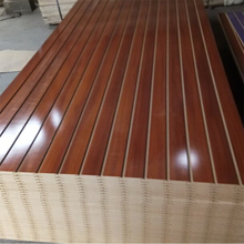 cheap slatwall/laminated slatwall/colored slotted mdf