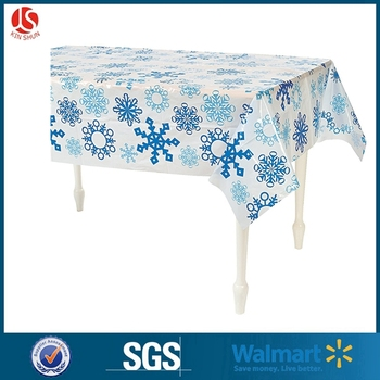 Non-toxic Christmas Snowflakes Holiday banquet Plastic vinyl Tablecloth
