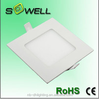 Hot sales LED Square Panel lights ,85-265V 4W 2835SMD 3000K LED Square panel lights