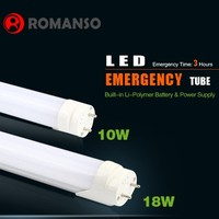 HOT SALE 18w 1200mm T8 tube led remote control emergency lamp with battery backup
