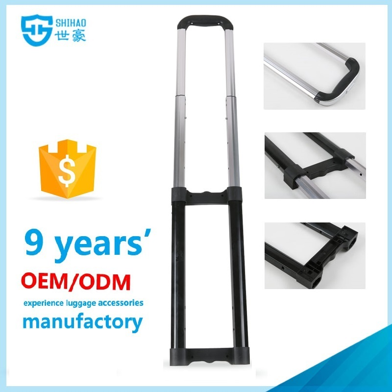 luggage handle parts/telescopic suitcase handle/luggage bag parts trolley handle