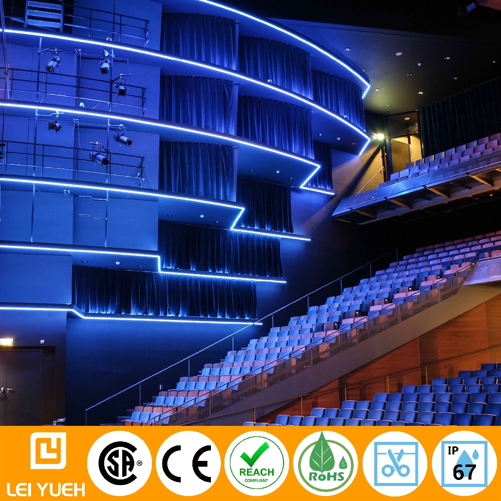 Decorative Outdoor waterproof IP66/67 24V continuous 50m runs Micro LED strip light for building