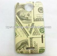 US dollar hard case skin cover for HTC ONE X