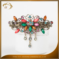 New design factory price wedding hair accessories vintage rhinestone hair clips