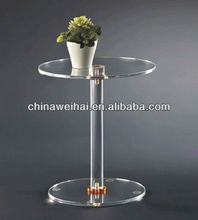 high quality round plexiglass table top
