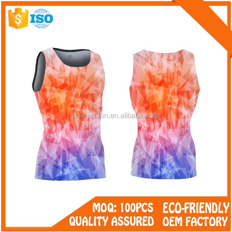 factory manufacturer anti bacterial custom made fitness clothes men sleeveless rash guard