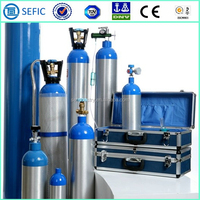 SEFIC (731) High Interior Cleanliness Aluminum Oxygen Medical Cylinder Gas