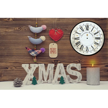 Fashion new free led fabric painting designs on canvas with wall clock decoration light