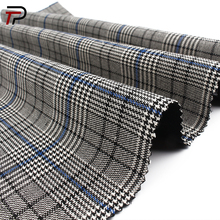 Soft Plaid Fabric 65% Polyester 33% Rayon 2%Spandex Stretch Fabric for women suits tr suiting fabric