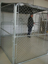 Best selling classic galvanized outdoor dog kennel / dog kennel cheap